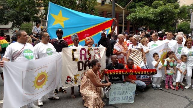 Umbandistas brasileiros expressam solidariedade aos grupos africanos. Crédito: Rodrigo Borges Delfim/MigraMundo