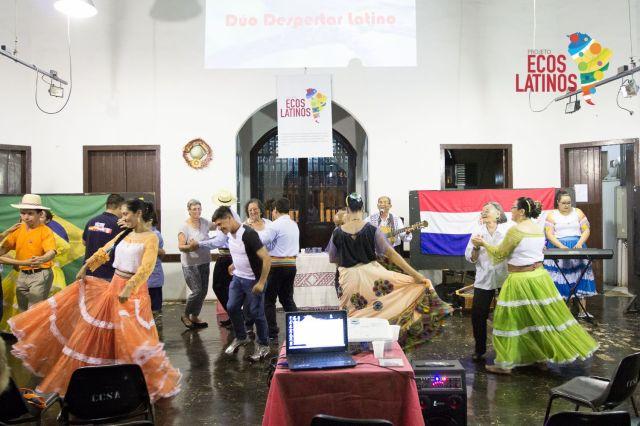Sarau promovido pelo Ecos Latinos em Santo Amaro, zona sul de São Paulo. Crédito: Ecos Latinos