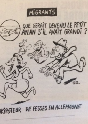 Charge polêmica na revista Charlie Hebdo: uma luta pela liberdade que ignora a dor alheia? Crédito: Reprodução