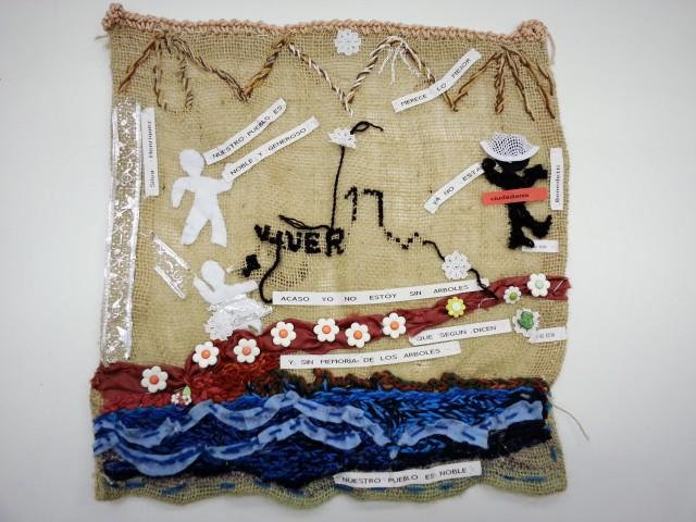 Nova exposição do Museu da Imigração mostra histórias contadas por meio das arpilleras. Crédito: Divulgação